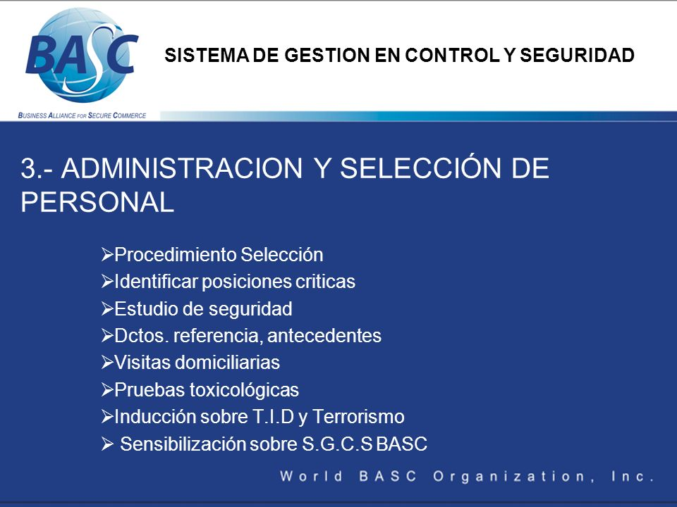3.- ADMINISTRACION Y SELECCIÓN DE PERSONAL