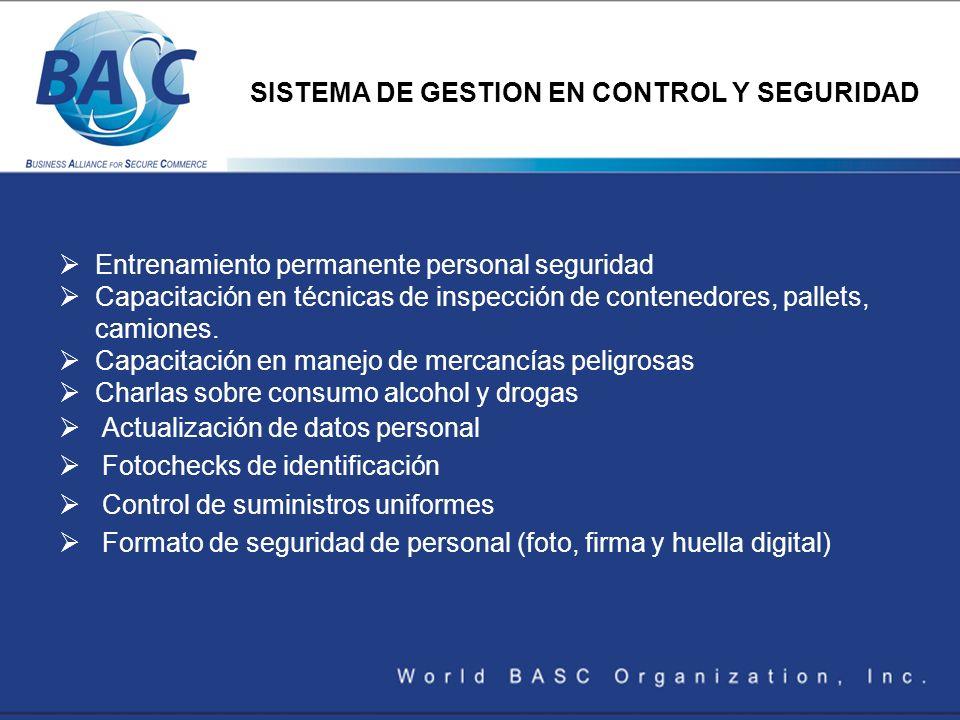 SISTEMA DE GESTION EN CONTROL Y SEGURIDAD
