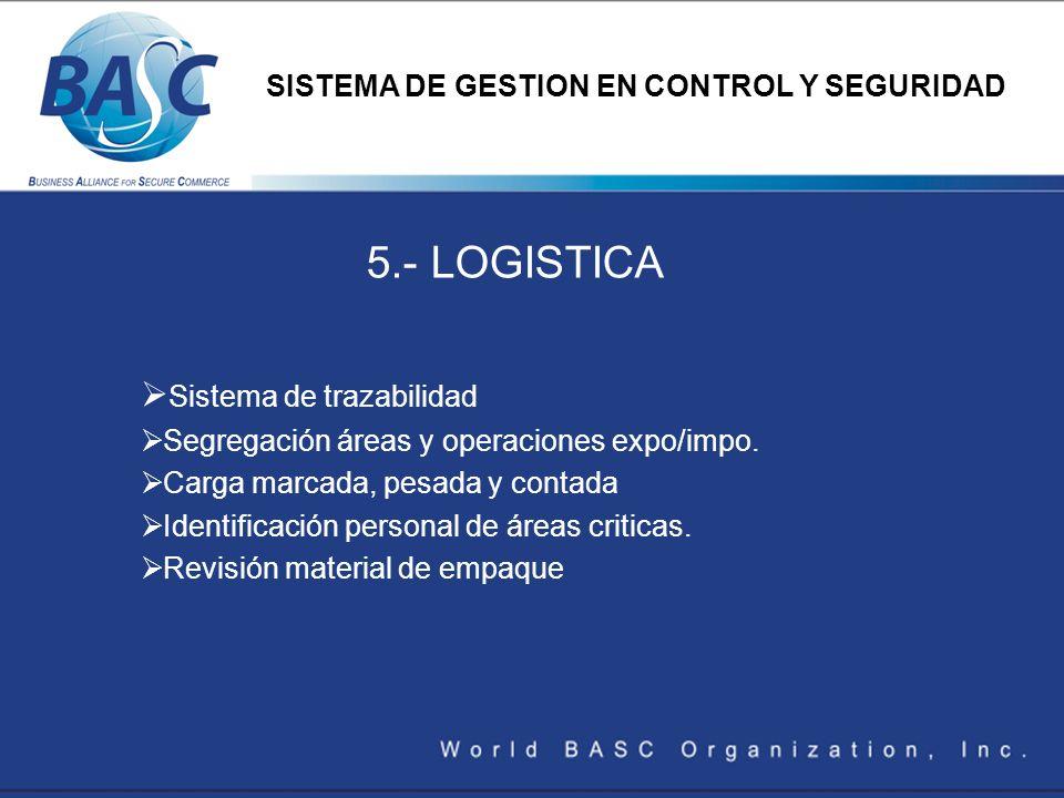 5.- LOGISTICA Sistema de trazabilidad
