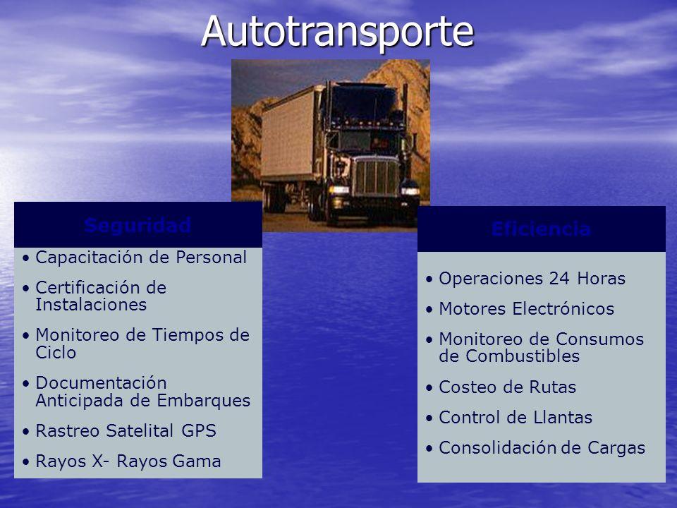Autotransporte Seguridad Eficiencia Capacitación de Personal