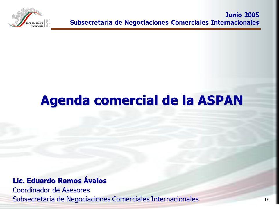 Agenda comercial de la ASPAN