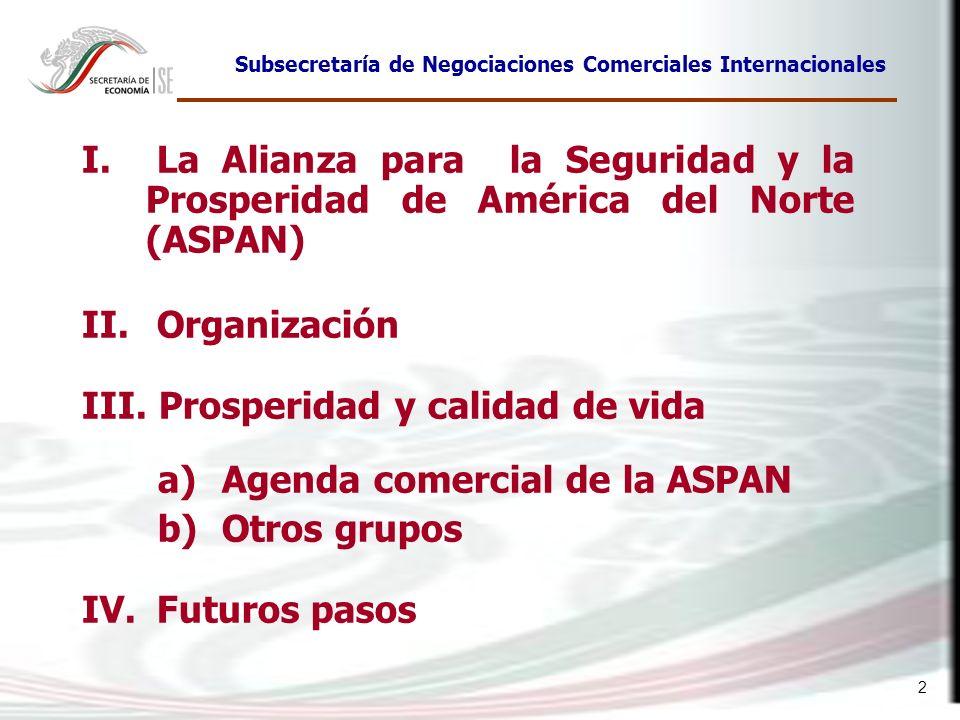 Prosperidad y calidad de vida Agenda comercial de la ASPAN