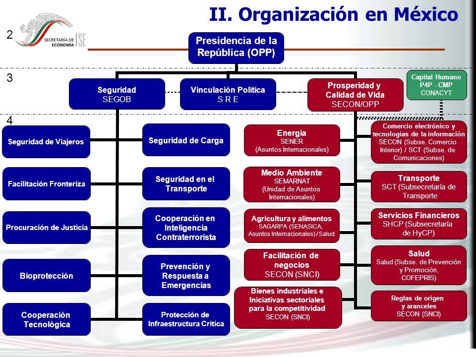II. Organización en México