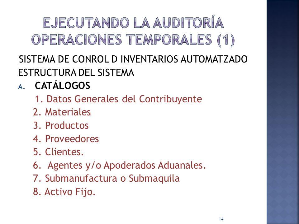 EJECUTANDO LA AUDITORÍA OPERACIONES TEMPORALES (1)