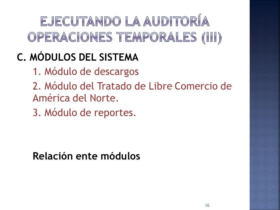 EJECUTANDO LA AUDITORÍA OPERACIONES TEMPORALES (III)
