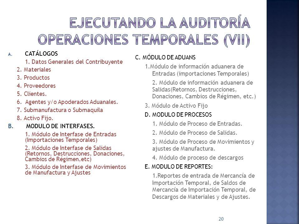EJECUTANDO LA AUDITORÍA OPERACIONES TEMPORALES (VII)