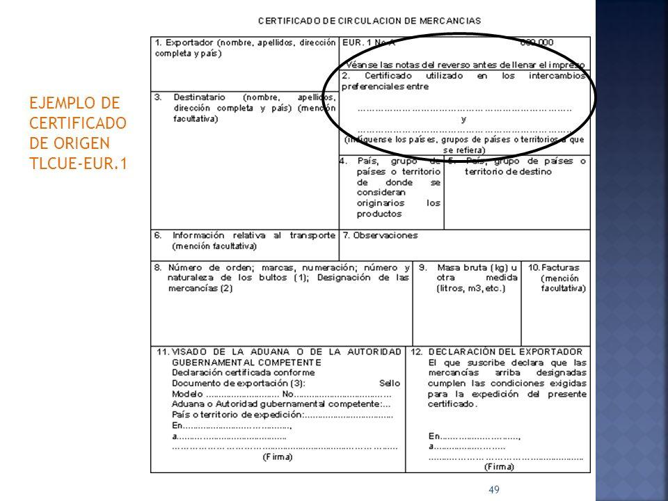 EJEMPLO DE CERTIFICADO DE ORIGEN TLCUE-EUR.1