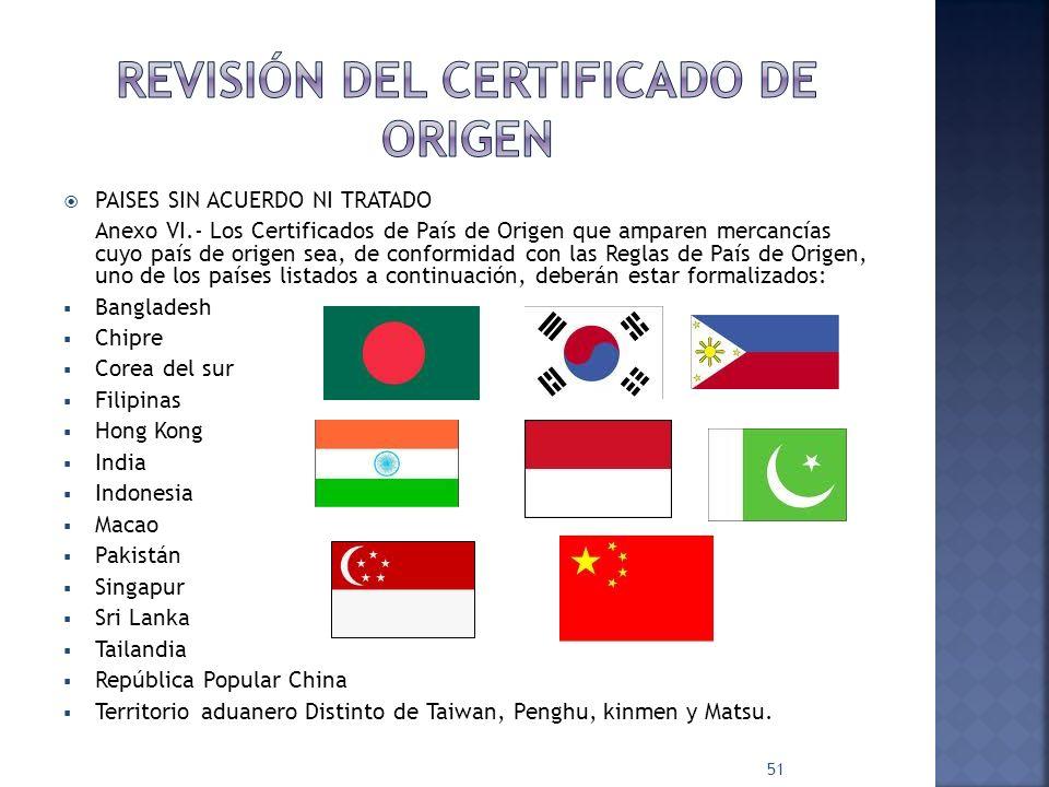Revisión del certificado de origen