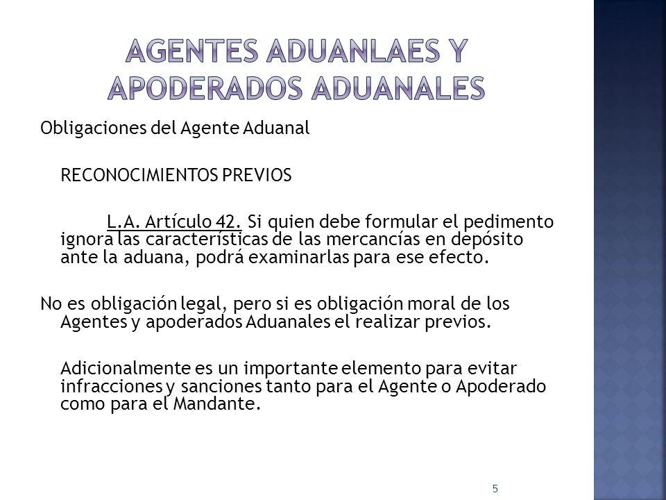 AGENTES ADUANLAES Y APODERADOS ADUANALES