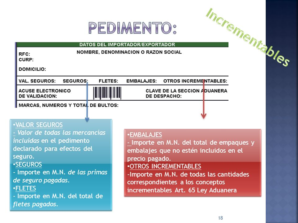 PEDIMENTO: Incrementables VALOR SEGUROS