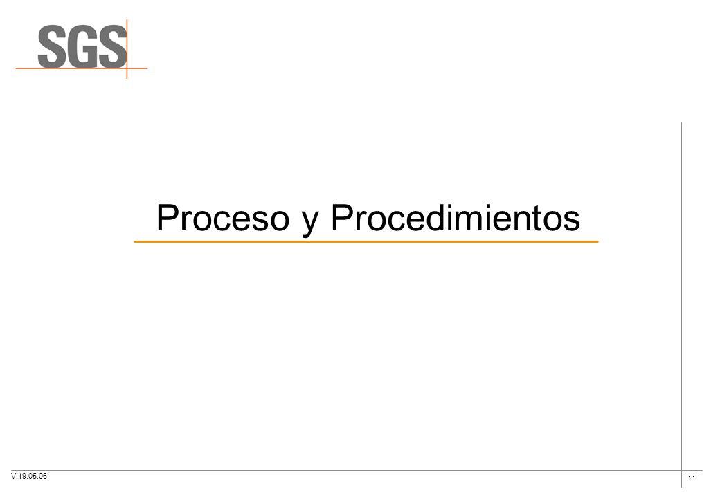 Proceso y Procedimientos