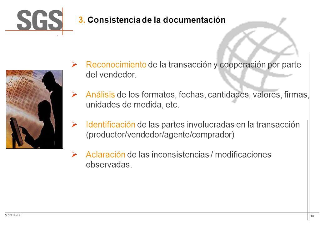 3. Consistencia de la documentación