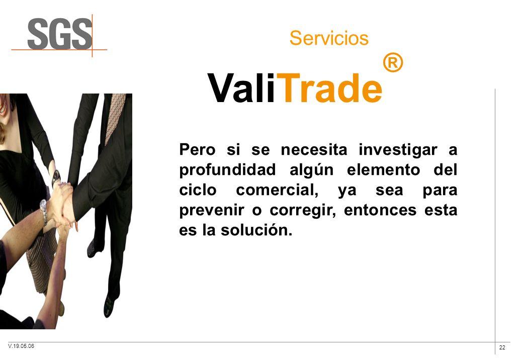 Servicios ValiTrade®
