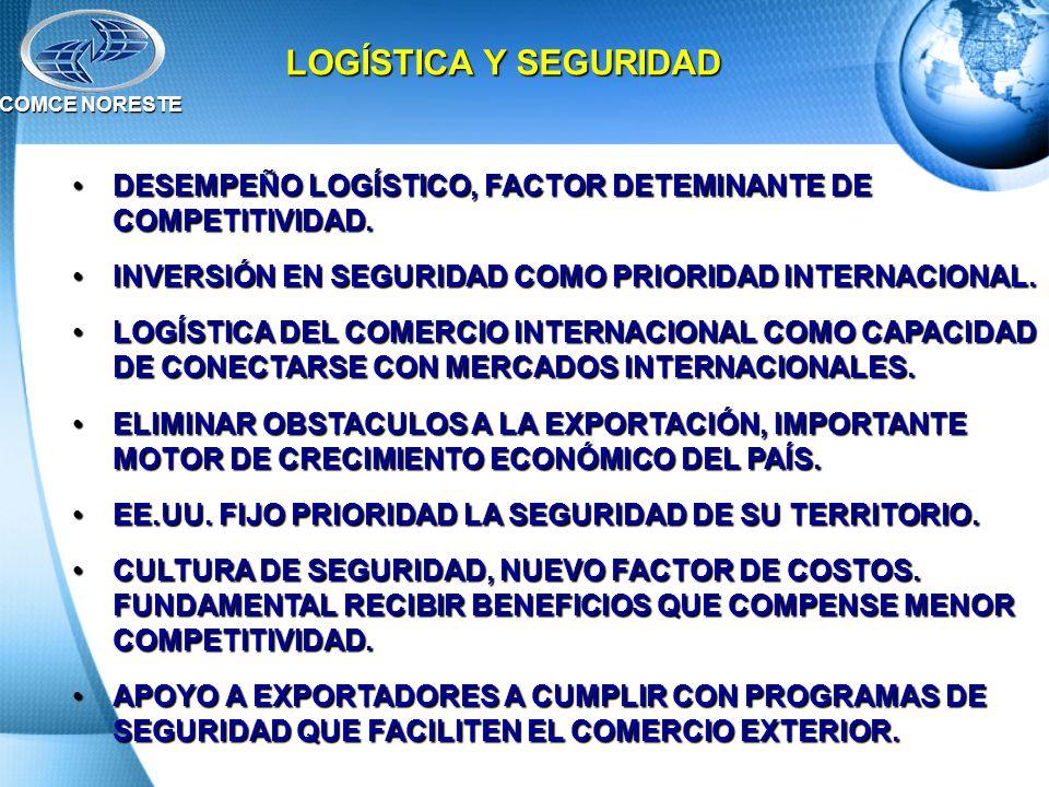 COMCE NORESTE LOGÍSTICA Y SEGURIDAD. DESEMPEÑO LOGÍSTICO, FACTOR DETEMINANTE DE COMPETITIVIDAD.