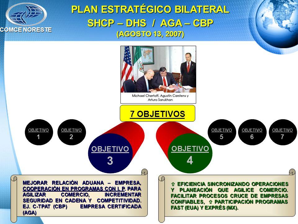 PLAN ESTRATÉGICO BILATERAL SHCP – DHS / AGA – CBP (AGOSTO 13, 2007)