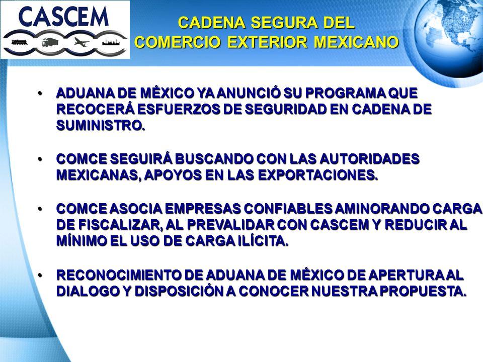 CADENA SEGURA DEL COMERCIO EXTERIOR MEXICANO