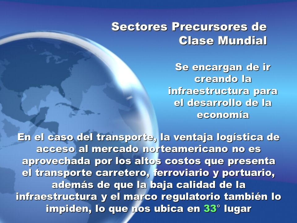 Sectores Precursores de Clase Mundial