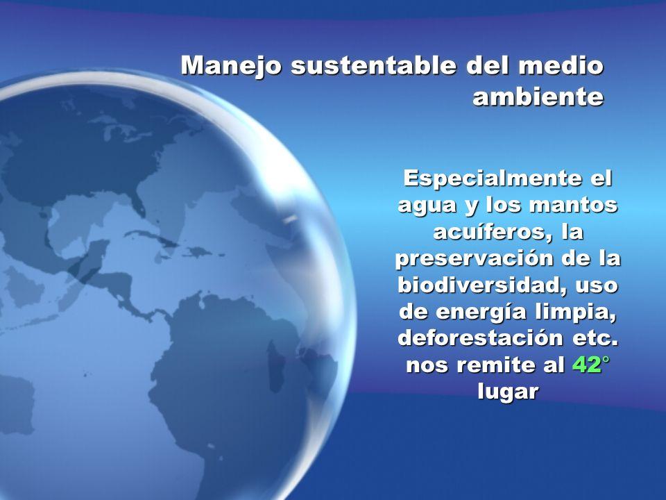 Manejo sustentable del medio ambiente
