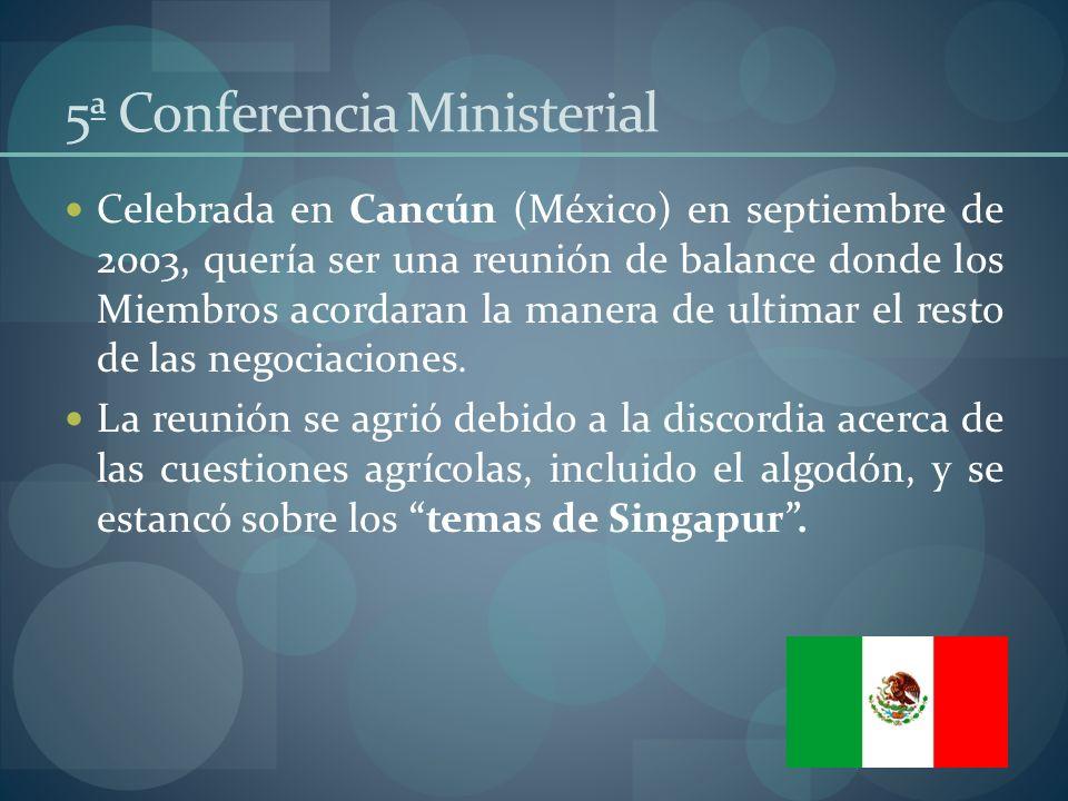 5ª Conferencia Ministerial
