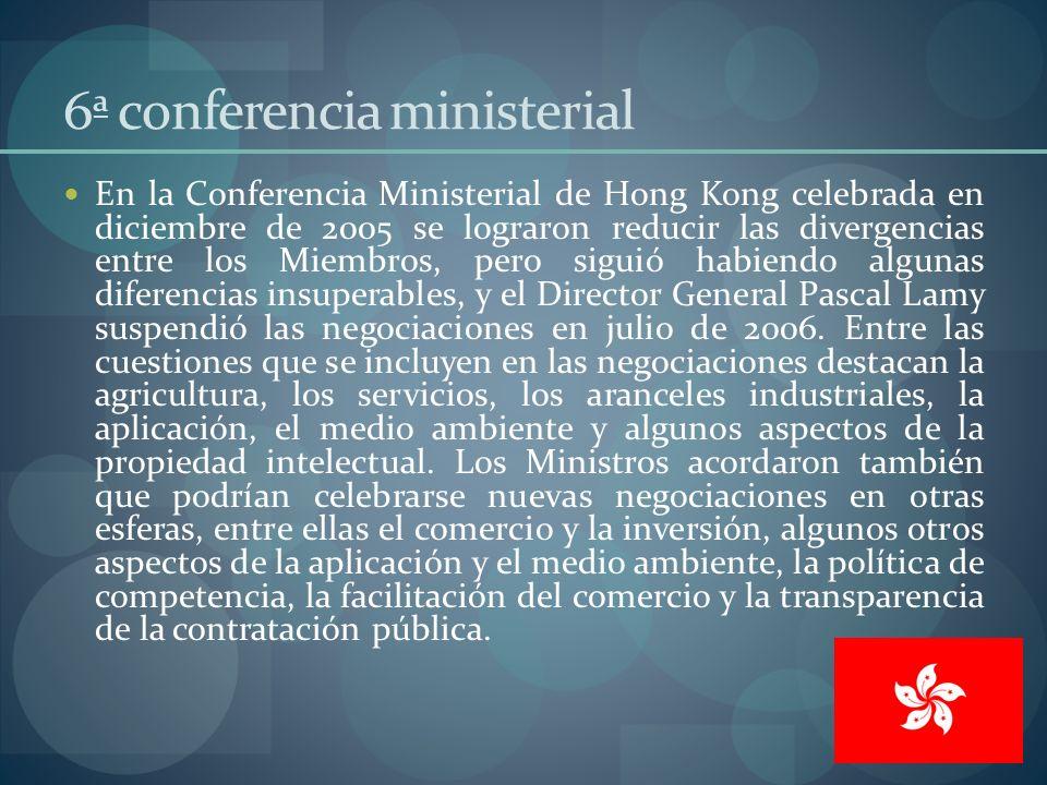 6ª conferencia ministerial