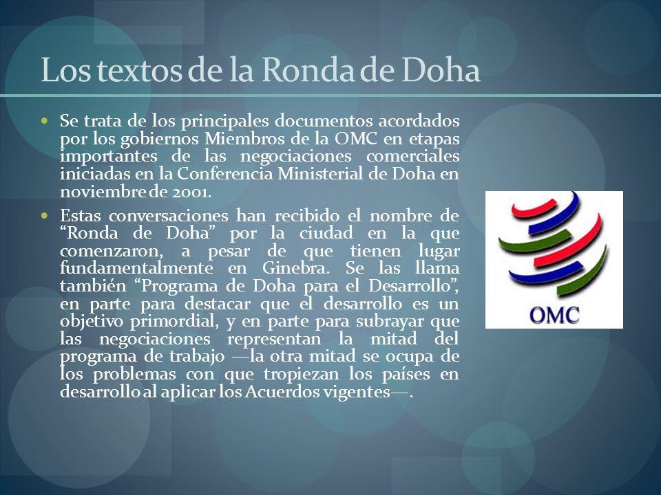 Los textos de la Ronda de Doha
