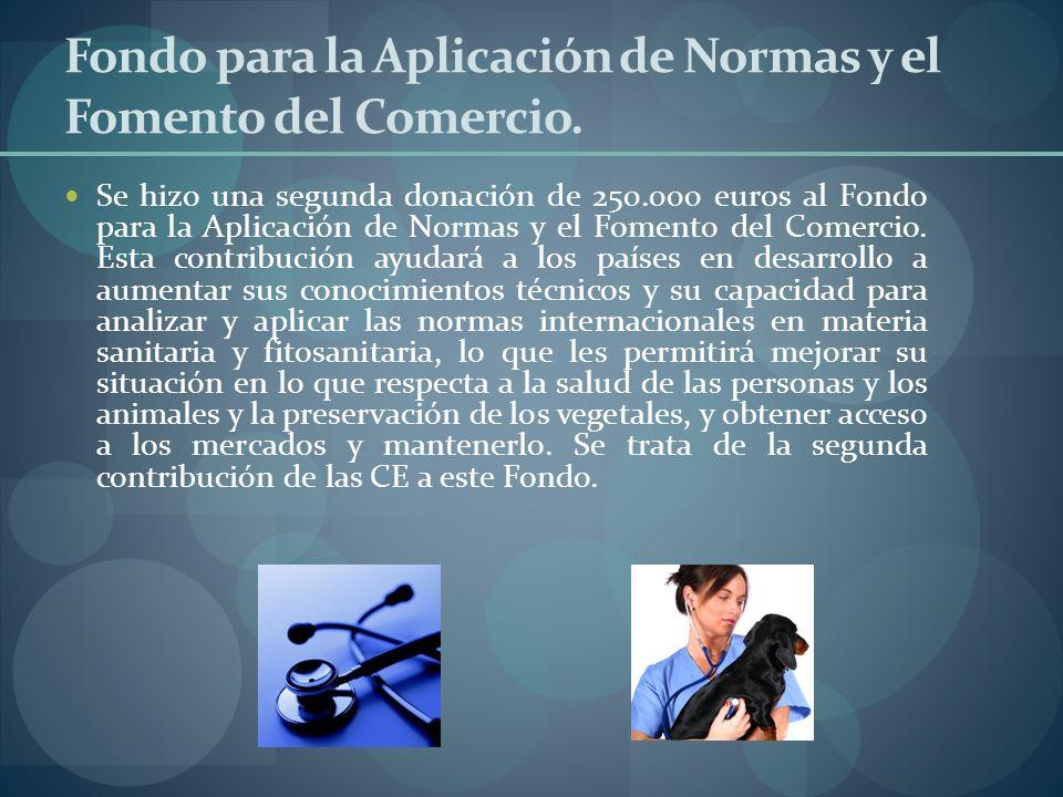 Fondo para la Aplicación de Normas y el Fomento del Comercio.