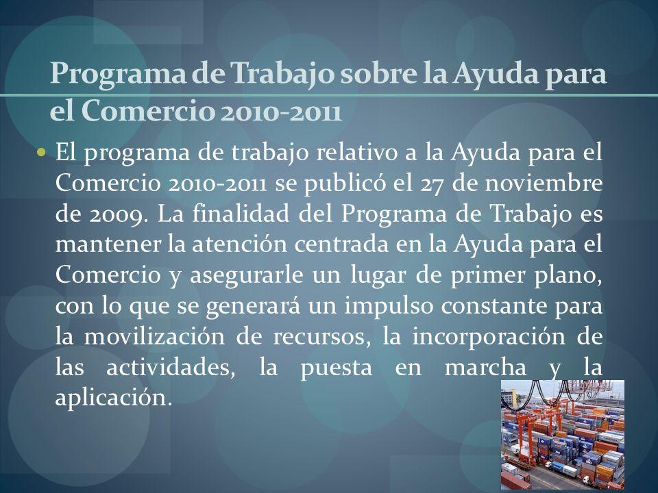 Programa de Trabajo sobre la Ayuda para el Comercio 2010-2011