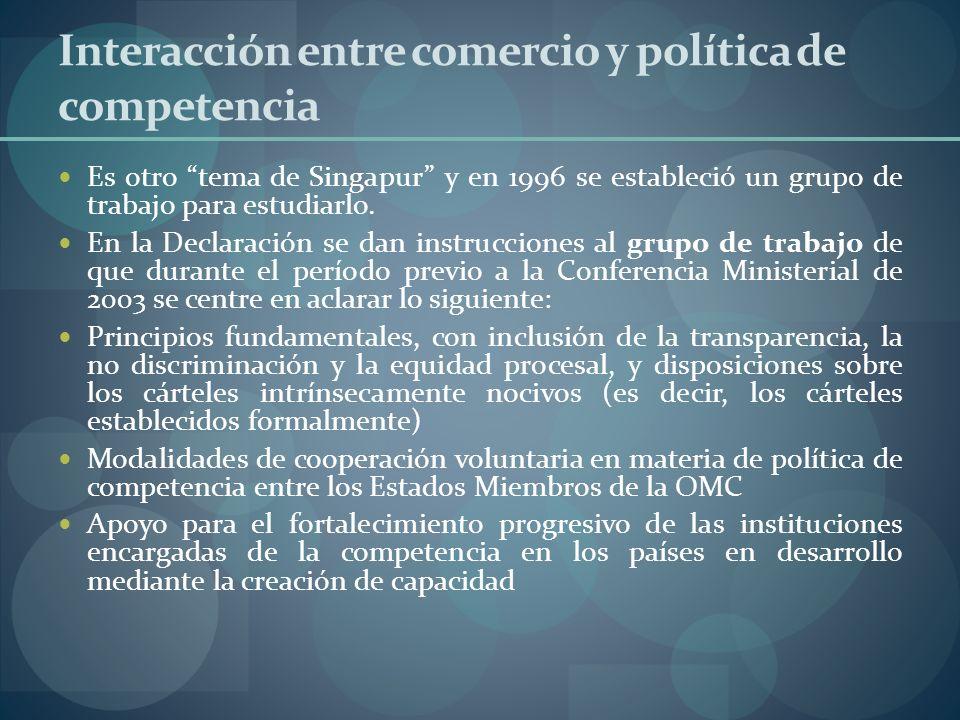Interacción entre comercio y política de competencia