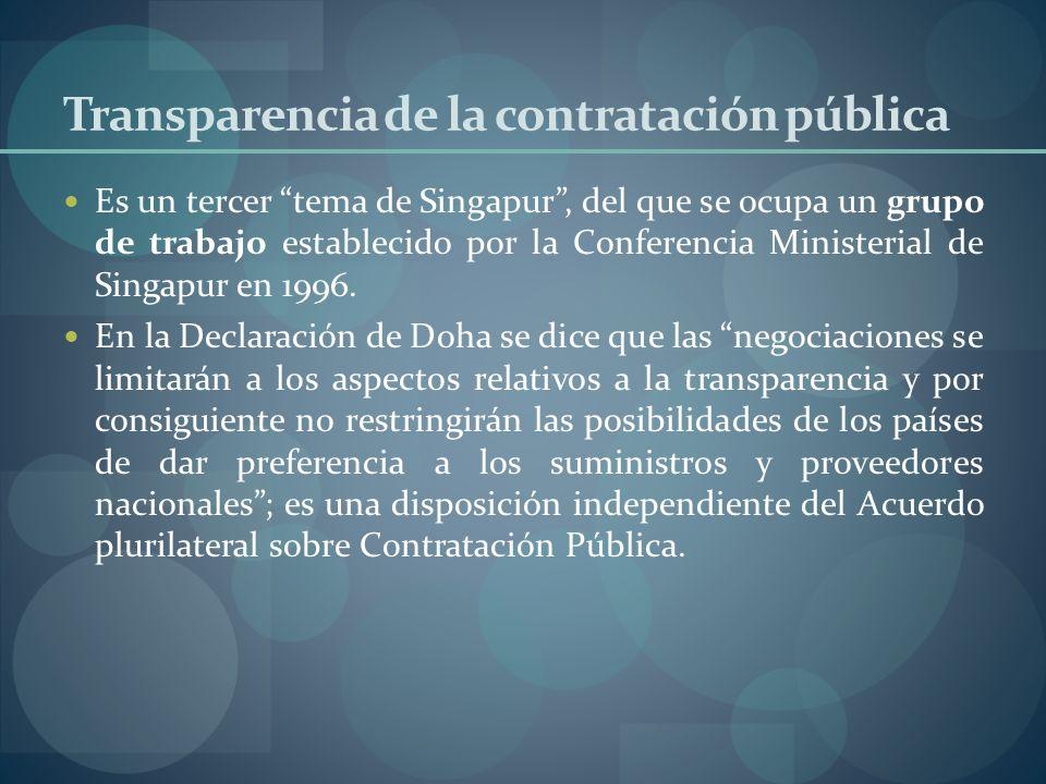 Transparencia de la contratación pública