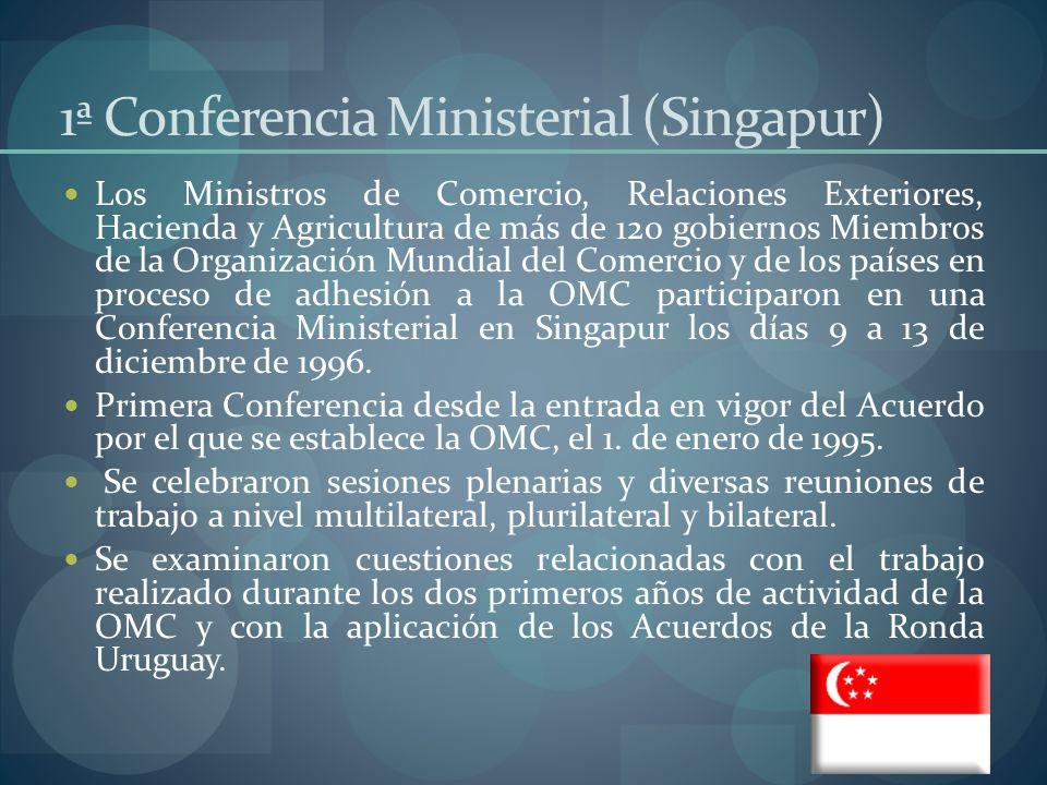 1ª Conferencia Ministerial (Singapur)