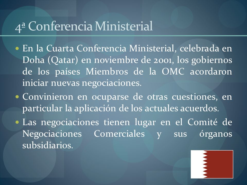 4ª Conferencia Ministerial