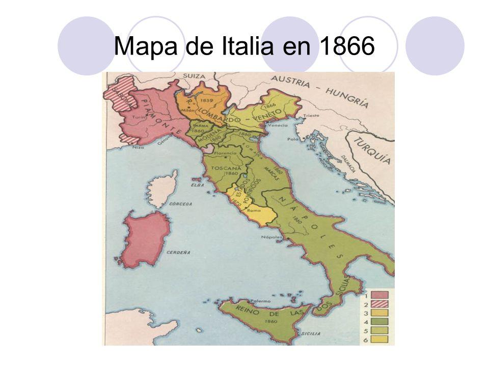Mapa de Italia en 1866