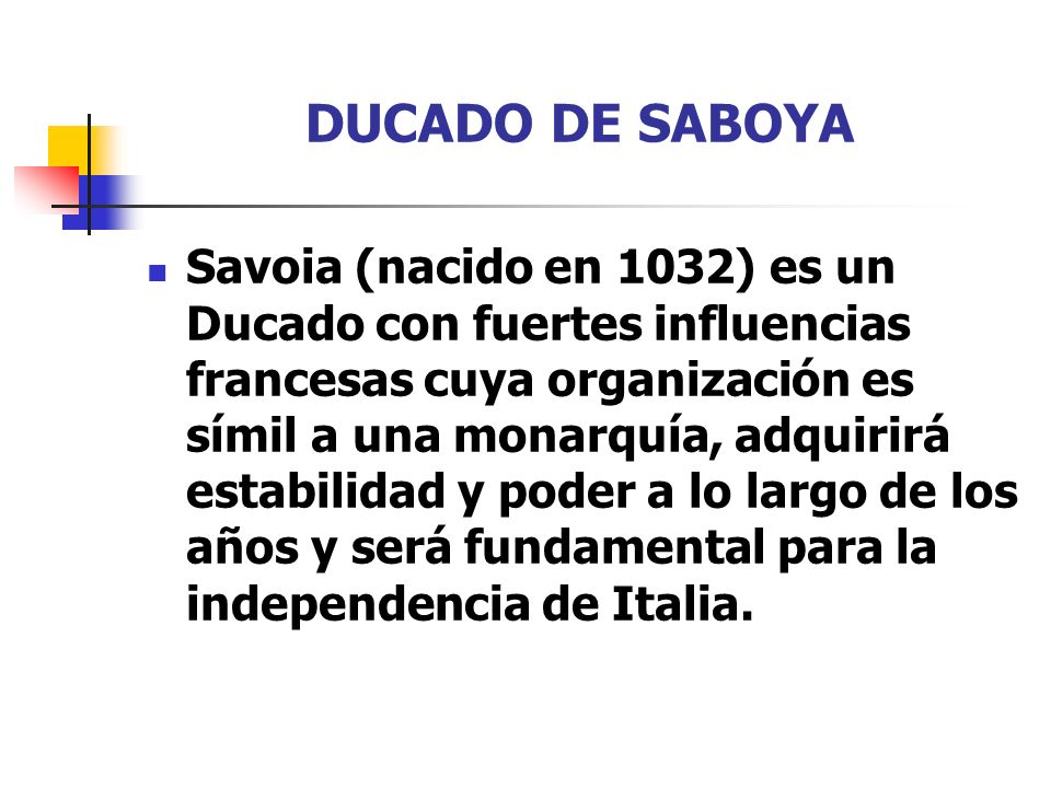 DUCADO DE SABOYA