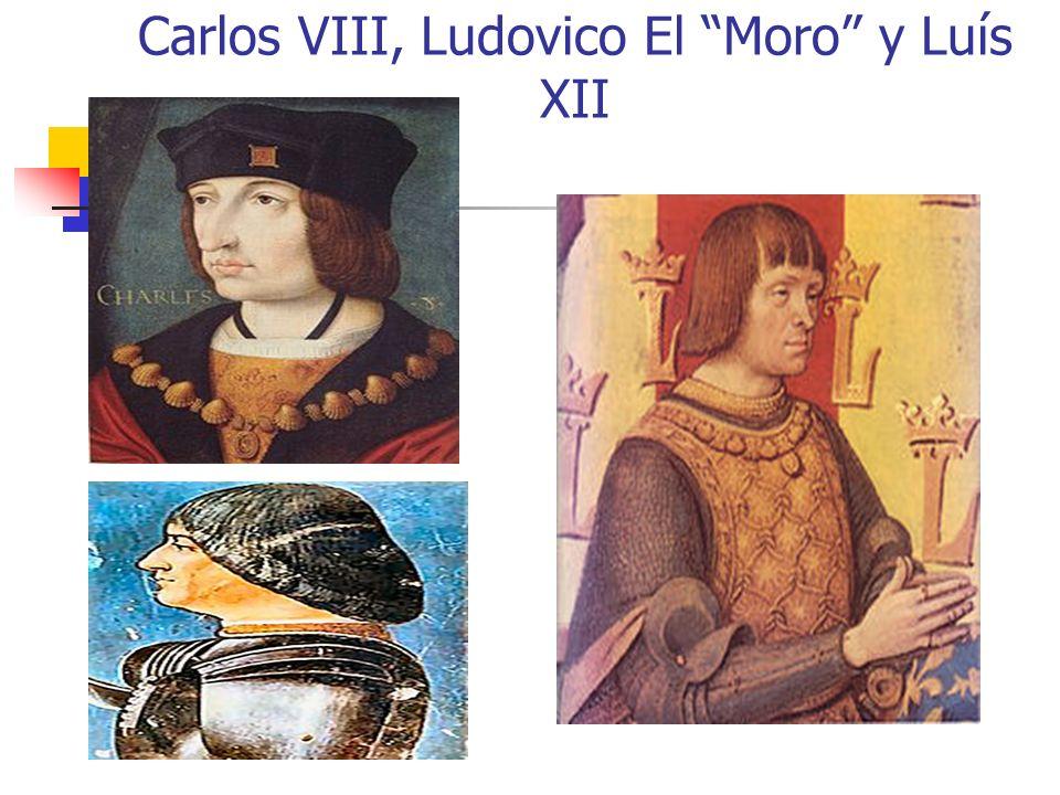 Carlos VIII, Ludovico El Moro y Luís XII