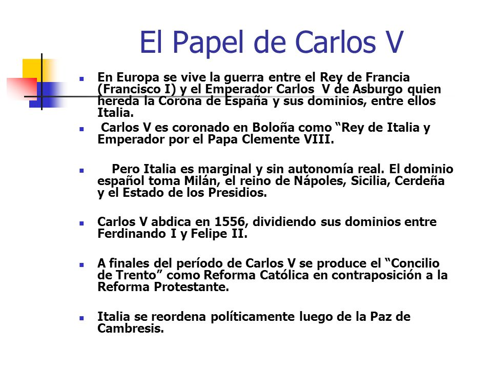 El Papel de Carlos V