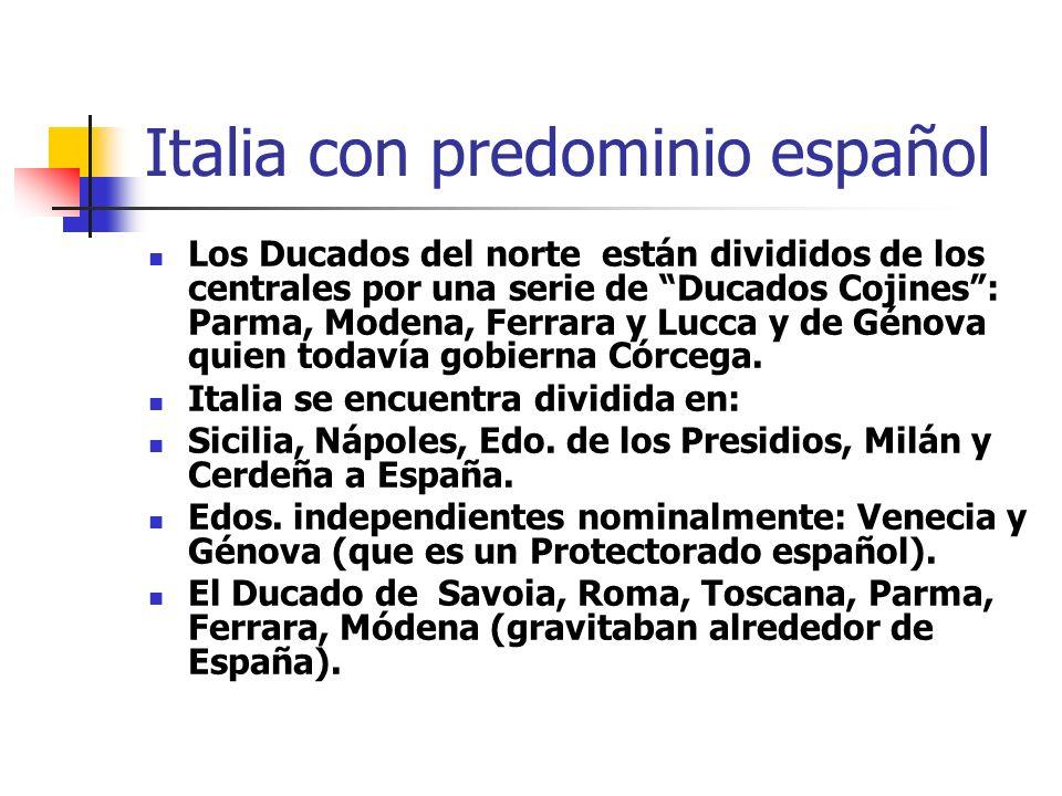 Italia con predominio español