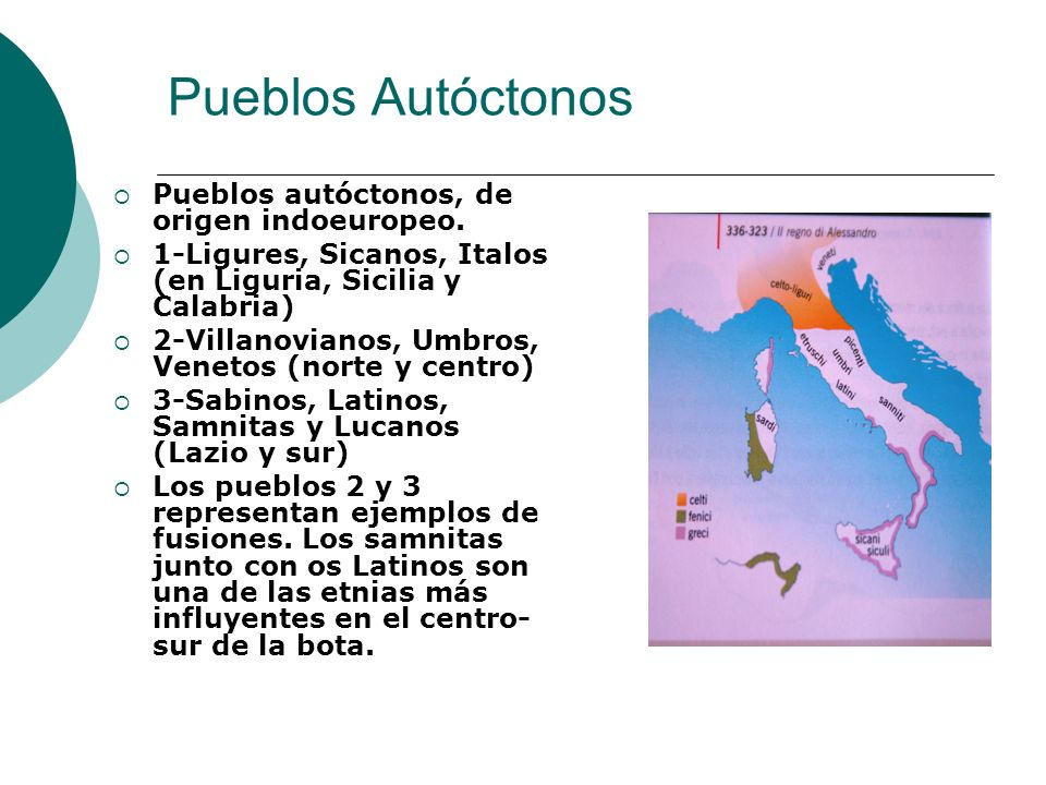 Pueblos Autóctonos Pueblos autóctonos, de origen indoeuropeo.