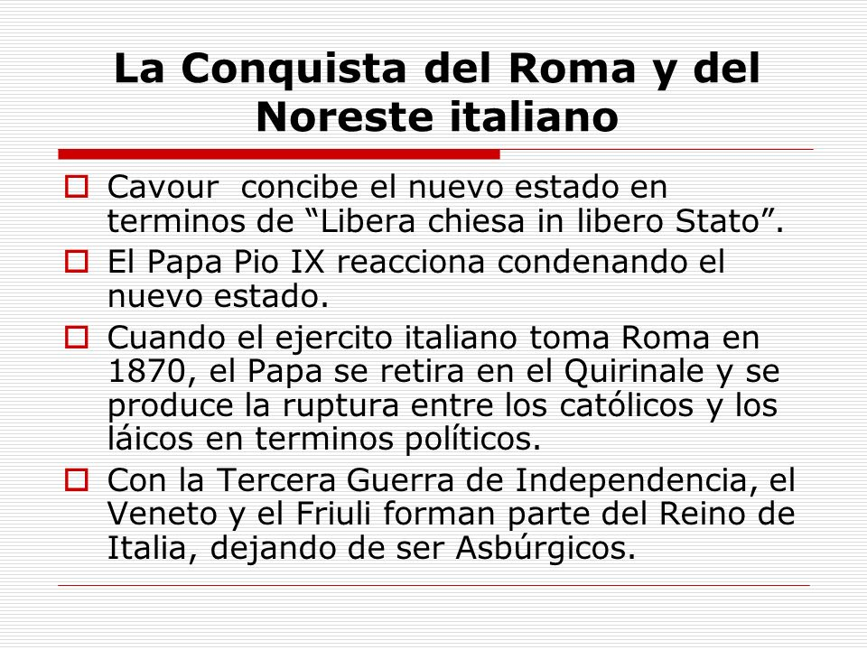 La Conquista del Roma y del Noreste italiano