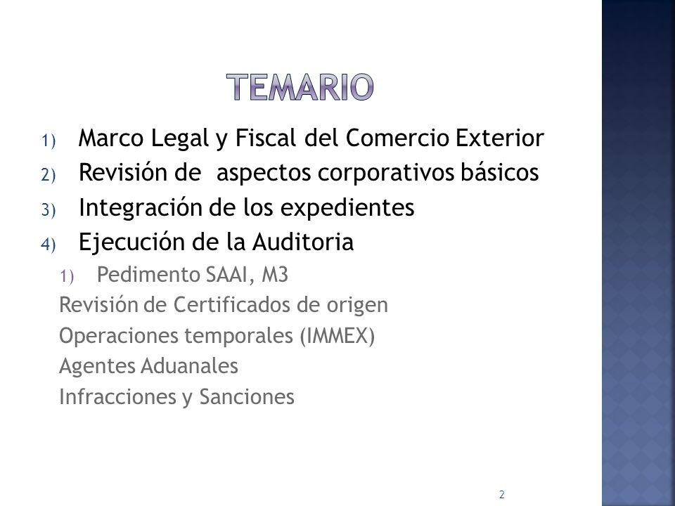 temario Marco Legal y Fiscal del Comercio Exterior