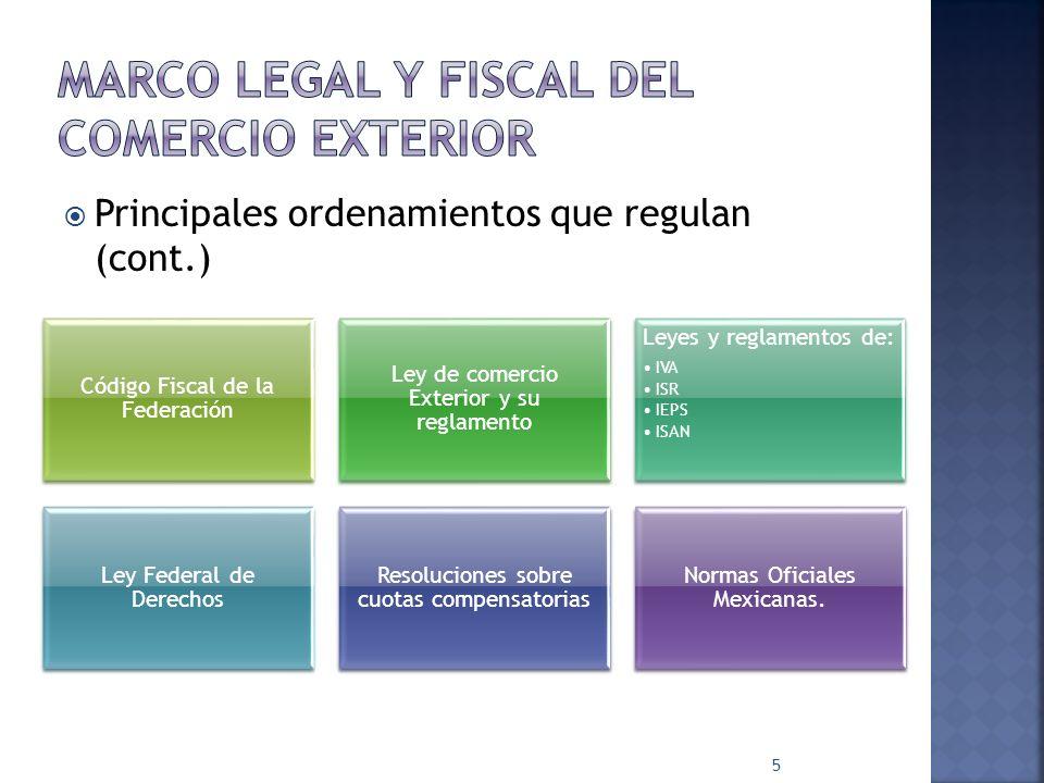 MARCO LEGAL Y FISCAL DEL COMERCIO EXTERIOR