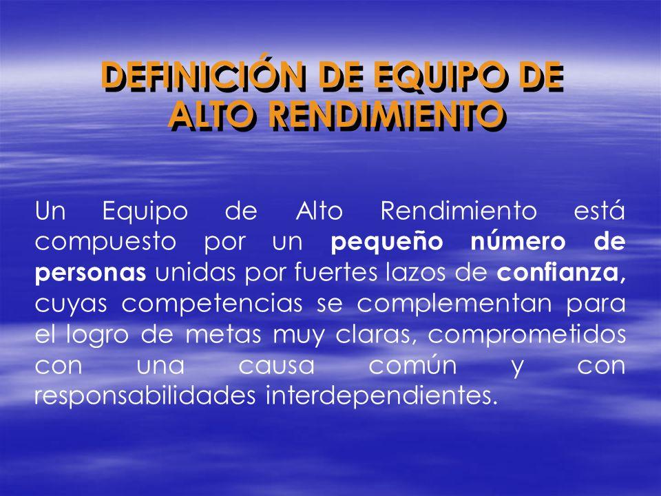 DEFINICIÓN DE EQUIPO DE