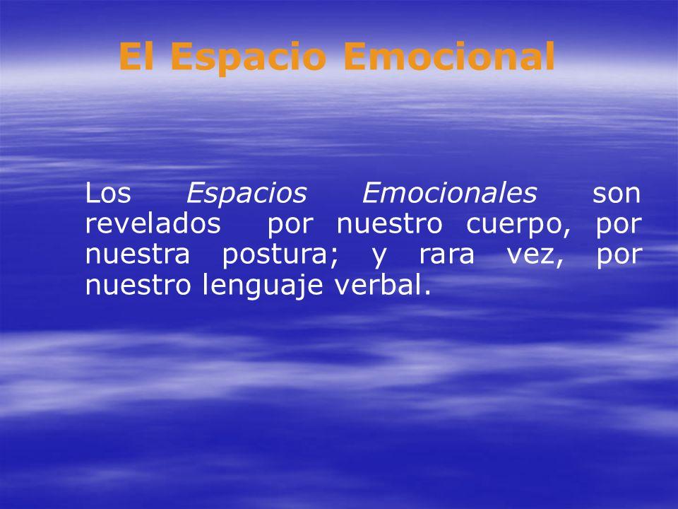 El Espacio Emocional Los Espacios Emocionales son revelados por nuestro cuerpo, por nuestra postura; y rara vez, por nuestro lenguaje verbal.
