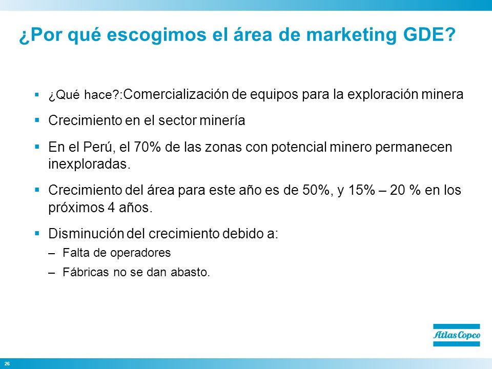 ¿Por qué escogimos el área de marketing GDE