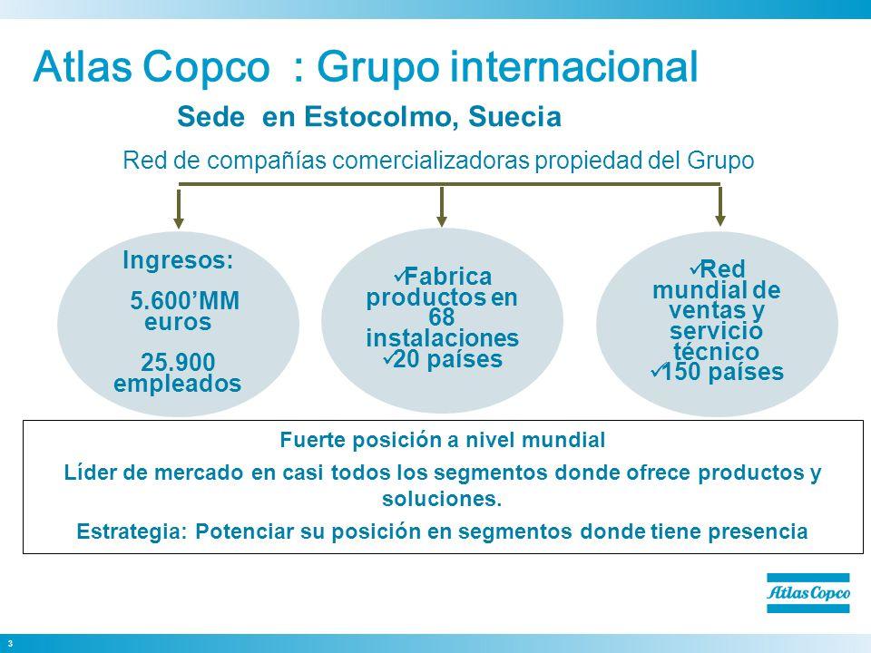 Atlas Copco : Grupo internacional