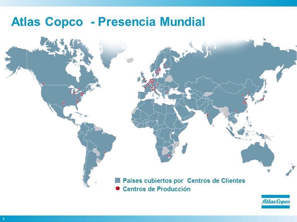 Atlas Copco - Presencia Mundial