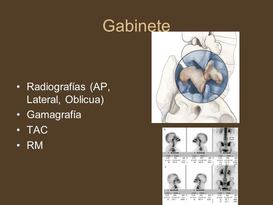 Gabinete Radiografías (AP, Lateral, Oblicua) Gamagrafía TAC RM