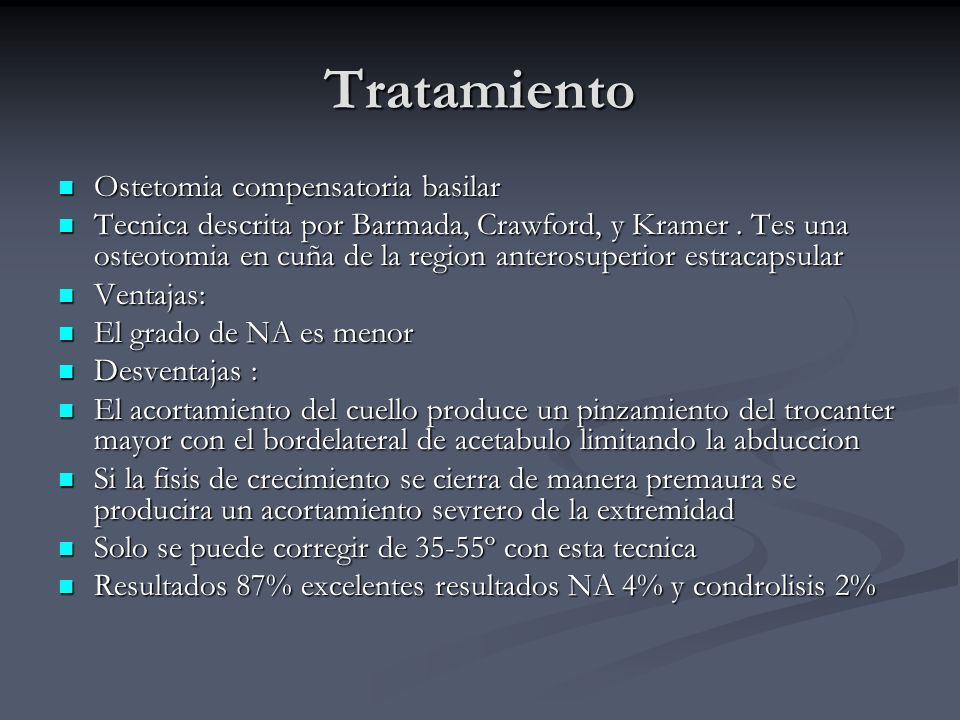 Tratamiento Ostetomia compensatoria basilar