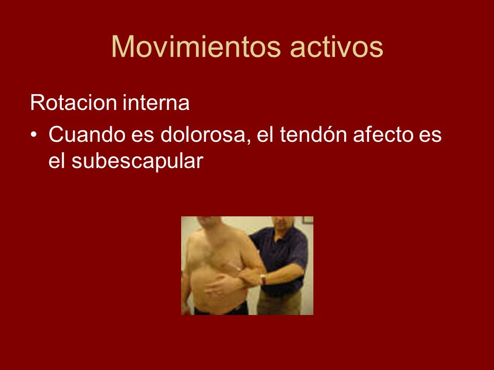 Movimientos activos Rotacion interna