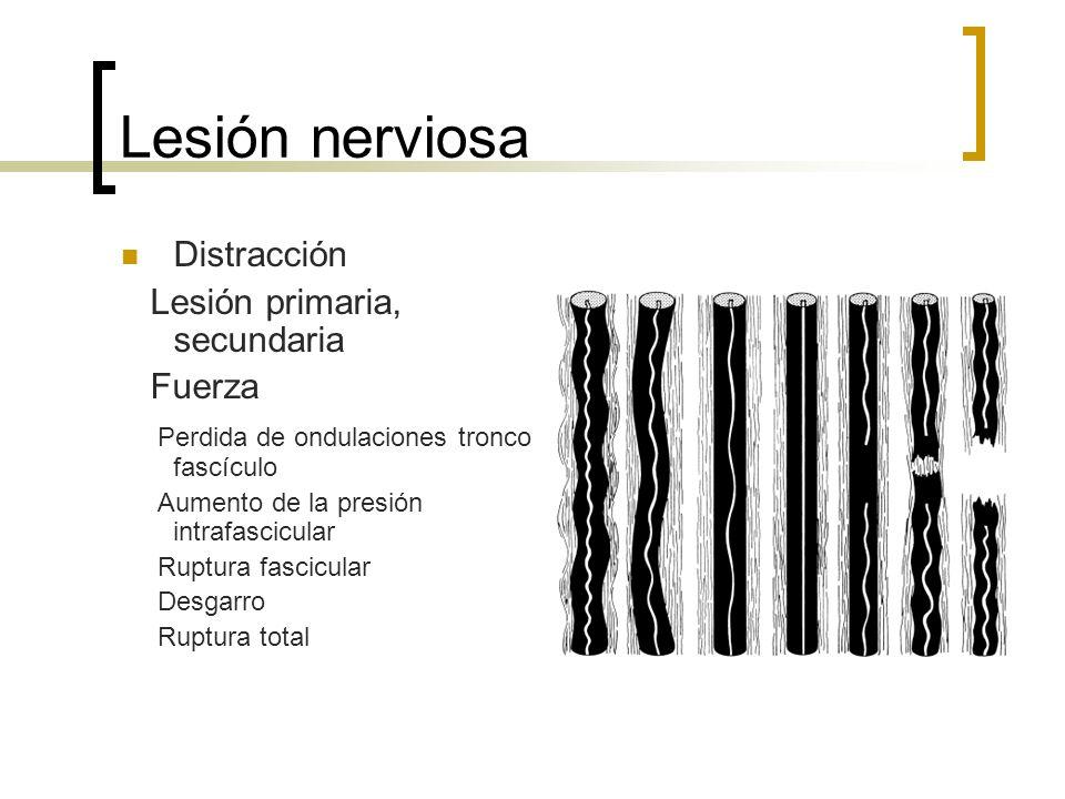 Lesión nerviosa Distracción Lesión primaria, secundaria Fuerza