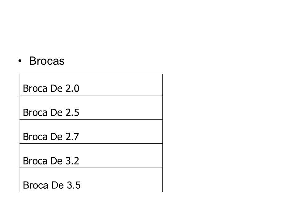 Brocas Broca De 2.0 Broca De 2.5 Broca De 2.7 Broca De 3.2